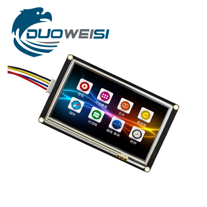 TJ C8048K050-011R 5 inch enhanced serial USART HMI screen configuration screen extended IO EEPROM TFT LCD gibson seg 700ml brite wires nps wound 011 050