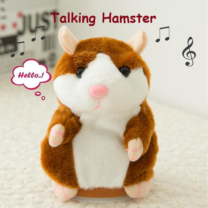 Lovely Talking Hamster Speak Talk Sound Record Repeat Stuffed Plush Animal 14CM Mini Hamster Toys For Children