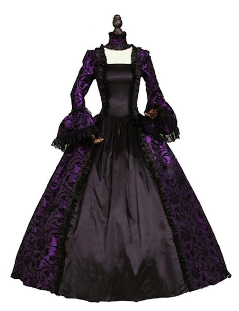 Victorian Gothic Georgian Period Dress Halloween Masquerade Ball Gown - Maskeradkläder och utklädnad - Foto 4