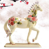 Modern Ceramic Horse Sculpture Animal Figurine Decoration Simple Interior Ornaments Home Decoration Model Room Display Decors