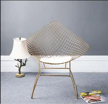 Nordic hollow iron wire chair modern simple dining designer creative studio clothing leisure