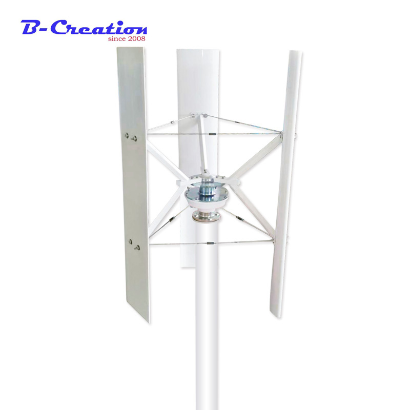 Générateur d'énergie éolienne DC12V/24 V 300 W axe Vertical générateur d'éolienne en spirale VAWT pour jardin maison CE TUV ISO