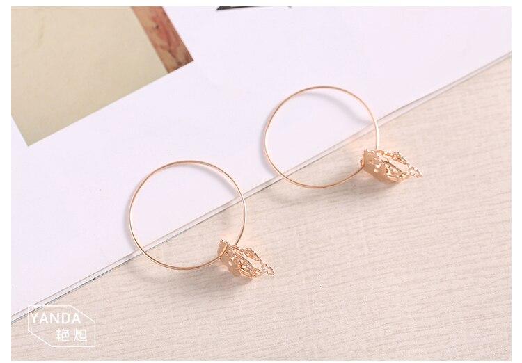 rose gold dog drop silver hoop earrings 04_01