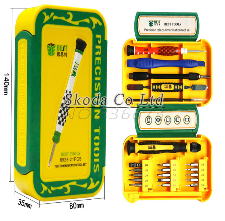 Free shipping BEST 8923 Precision Magnetic Screwdriver Set Spudger Prying Tool Kit for IPhone samsung table repair opening tools