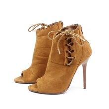 Frauen High Heels 11 CM Schuhe Mode Frühjahr Herbst Schönheit Weibliche Flock Leder Partei Gladiator Mädchen Reißverschluss Fischmaul Pumpen Z528