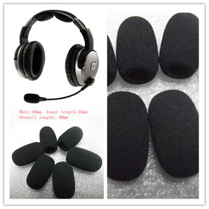 Image 3 - Linhuipad 10mm Quality Foam Microphone Windshield For Lightspeed aviation Headsets 10pcs/lot Free Shipping