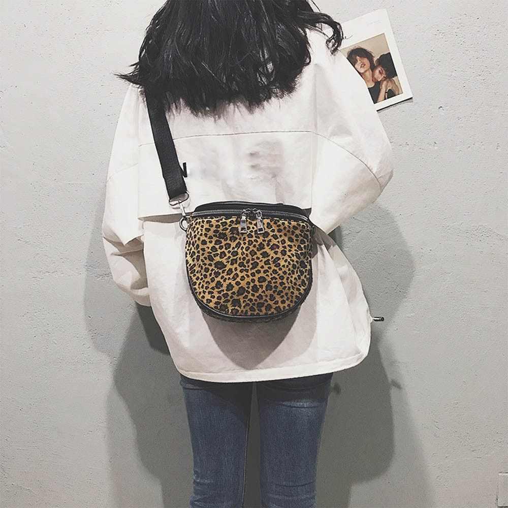 be9e9d1449 Women Messenger Bag Fashion Leopard Plush Mini Square Bag Shoulder  Crossbody Bags Female Casual Shopper Handbags