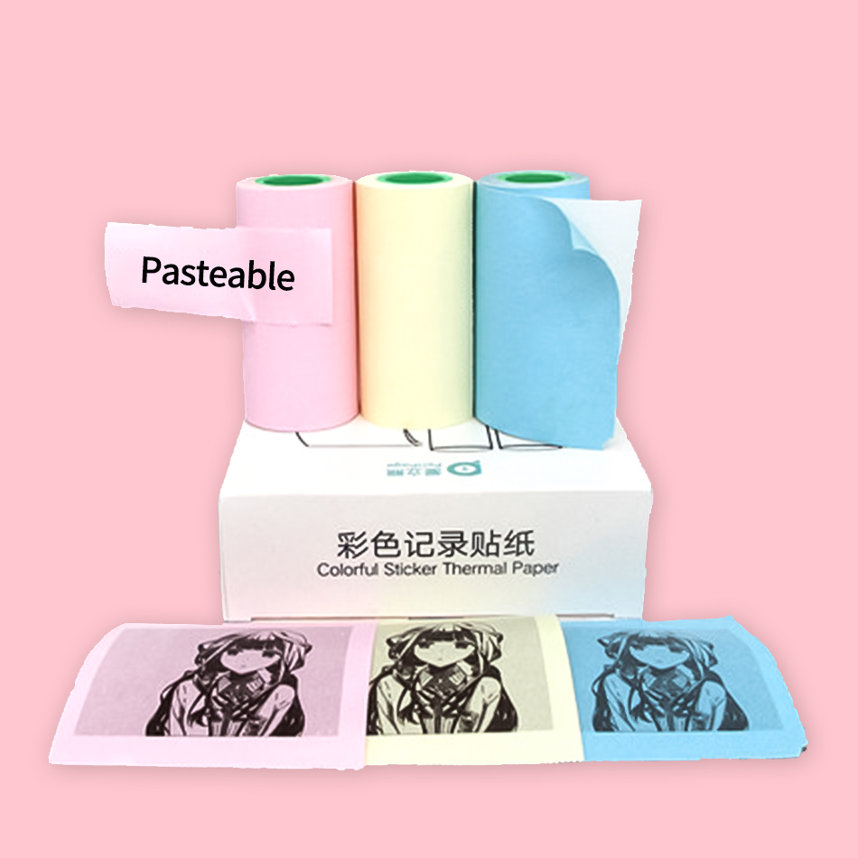 High Quality 10 Years Sticker Label Receipt Thermal Paper White Or Colorful For GZM5804 Peripage Mini Pocket Photo Notes Printer