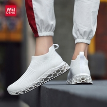 WeiDeng Blade Hombre Men Running Shoes WAVE Flats Fly Mesh PROPHECY Casual Breathable Shock Absorption Fashion Camping Plus Size