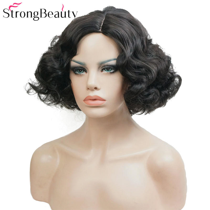 StrongBeauty Short Wavy Wig Syntetiska Paryk Women's - Syntetiskt hår - Foto 1