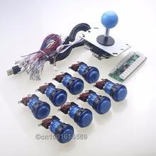 New Arcade LED 1 Player Bundle USB MAME Multicade Kits Parts & Joystick 8 way & 8 x LED Push Buttons For Raspberry PI Retropie