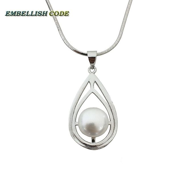 Water prop shapes elegant natural fresh water pearl pendant necklace water prop shapes elegant natural fresh water pearl pendant necklace snake chain best quality 925 sterling aloadofball Gallery