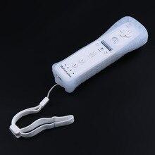 Многофункциональный беспроводной игровой пульт дистанционного управления для wii, встроенный в движение плюс нунчак для nintendo, мягкий силиконовый чехол
