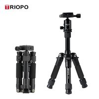 Professional Portable Travel Aluminum Camera Tripod Adjustable Desktop Macro Tripod with Ball PTZ for Canon Nikon Sony DSLR
