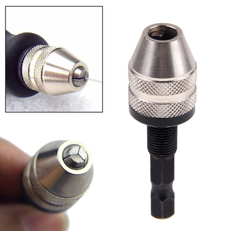 Quick Change Convertor Adapter Chuck Hex Shank Hand Keyless Drill Bits For Power Tools