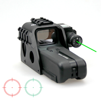 New Tactical Magnification 1x Reflex Holographic Red Green Dot Sight With Green Laser and Side Rail System For Outdoor Hunting.