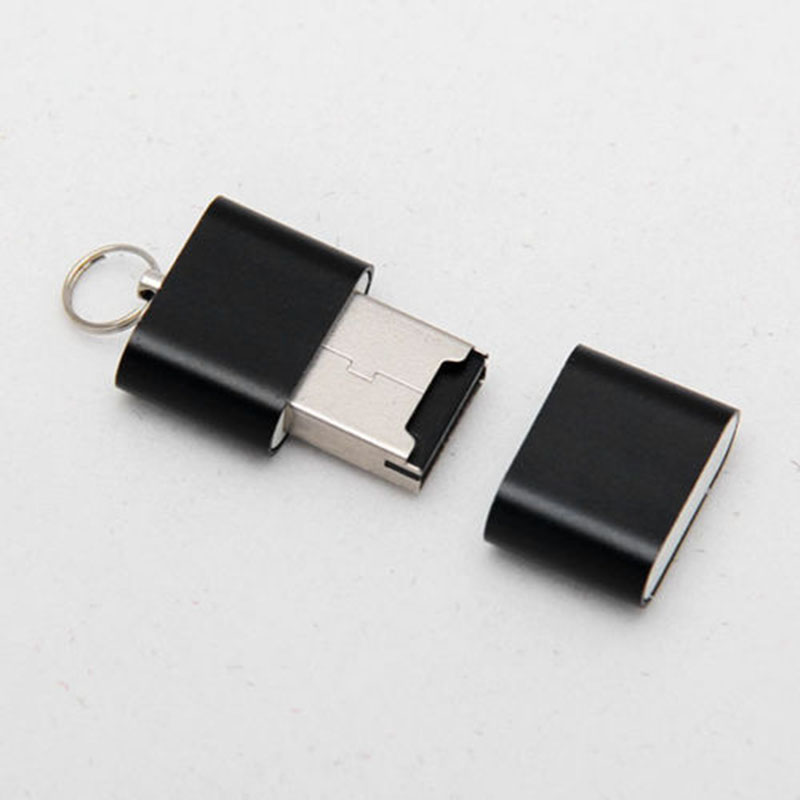 2 Pcs Mini Card Reader Micro SD T-Flash SDHC High Speed USB Adapter HSJ-19