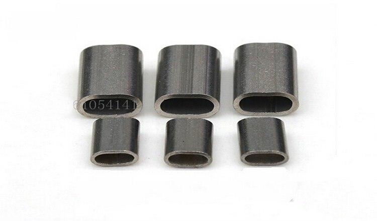 Проволочный Канат из нержавеющей стали овальный наконечник втулки 100 шт 1,5 мм наконечник(для 0,5-1,5 мм проволочный канат