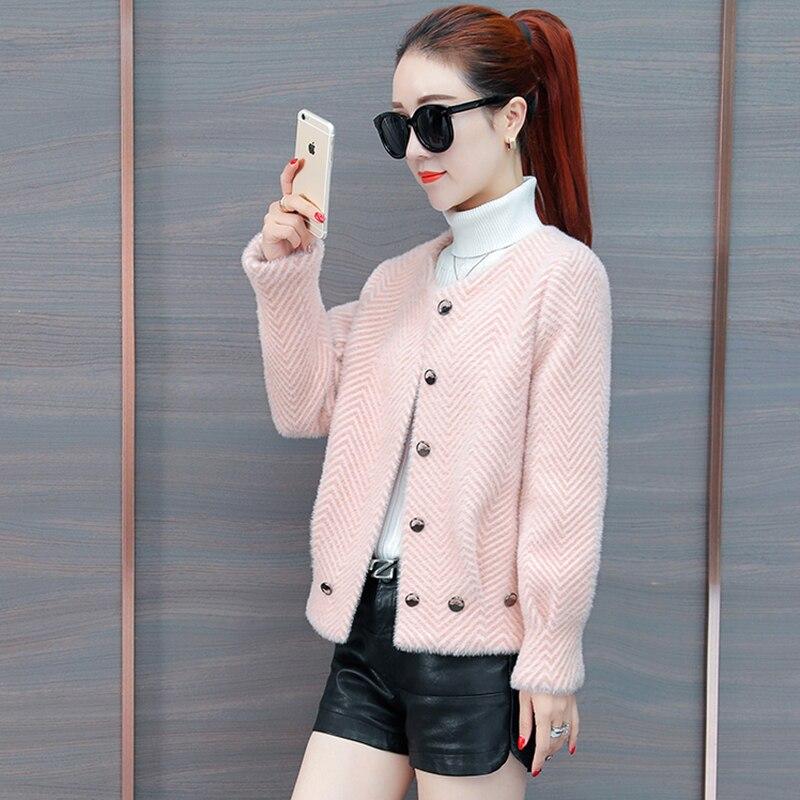Pink Velours Sauvage Automne Veste Lq071 khaki Mode Court Femmes D'or 2018 Chaud apricot Cardigan Et D'hiver blue Manteau De Des Nouvelle Épais UqnpA0