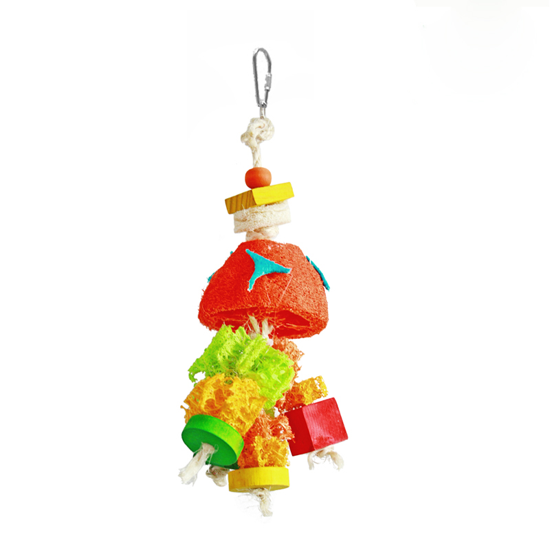 Small Toy Parrots : Loofah bird toys colorful toy for small and medium