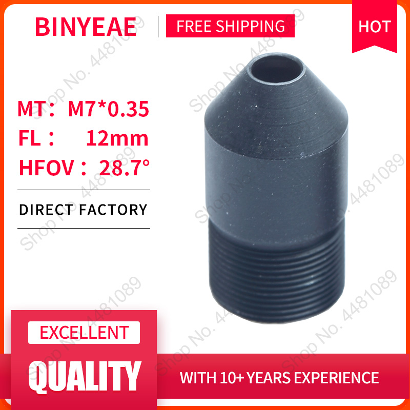 BINYEAE 3Megapixel HD 12mm Lens Board Lens For CCTV Security Camera IP Camera 12MM F2.4 M7*0.35   Mount Long Viewing Distance