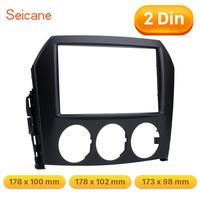Seicane 2 DIN Mounting Cage Dash Kit Car Radio Fascia for Mazda MX 5 surround DVD player Panel Trim Bezel