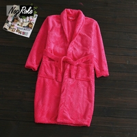 Plus Size Coral Velvet bathrobes women New Spring simple Red sexy fashion bath robes for women long sleeve robes dressing gown