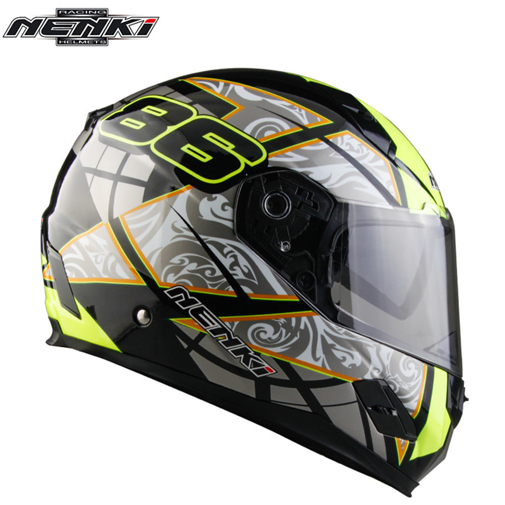 Full Face Motorcycle Helmet Capacetes de Motociclista Moto Helmets for Motorcycle Racing Helmets Fiberglass Material nenki motorcycle helmets motocross racing helmet motorbike full face helmet capacete de moto for men and women 13 color
