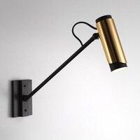 5 Вт светодиодные Настенные светильники в металлическом оттенке с золотой отделкой  Современные Настенные светильники с вращающимся оттен...