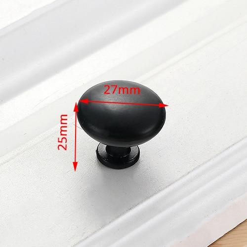 NAIERDI черные ручки шкафа американский стиль твердый алюминиевый сплав кухонный шкаф ручки для выдвижных ящиков оборудование для обработки мебели - Цвет: Handle-6625C