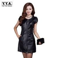 2018 New Chinese Style Short Sleeve High Waist O Neck Summer Fashion Women Straight Dresses Genuine