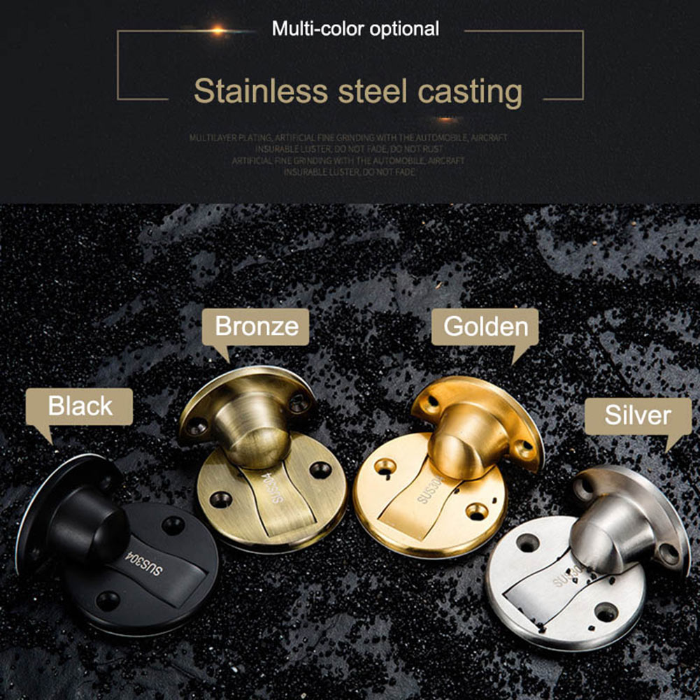 купить Magnet Door Stopper Stops Stainless Steel Holder For Toilet Glass Door Furniture JDH99 недорого