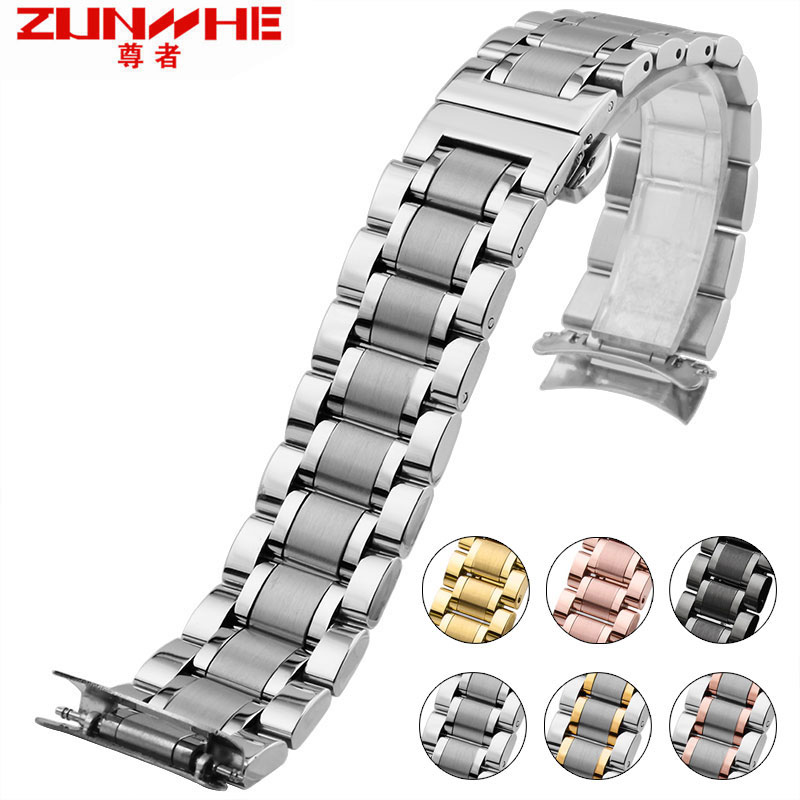 New Man Stainless Steel Strap Silver Strap Bracelet Strap For Tissot Seiko Citizen 19/20/21 Mm Set Package Mail Freight Men