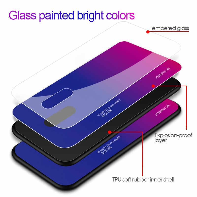 高級強化ガラス電話ケースoppo realme xライト 3 × 見つけるF11 プロR19 K3 リノ 10Xズームスリムハードバックガラスカバーcoques