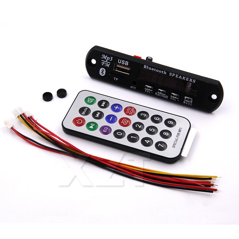 Car Wireless Bluetooth 12V MP3 WMA Decoder Board Audio Module USB Radio