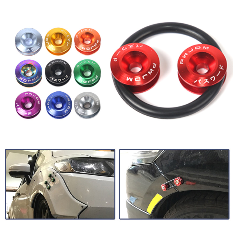 JDM Quick Release Fasteners are ideal for front bumpers, rear bumpers, and trunk / hatch lids