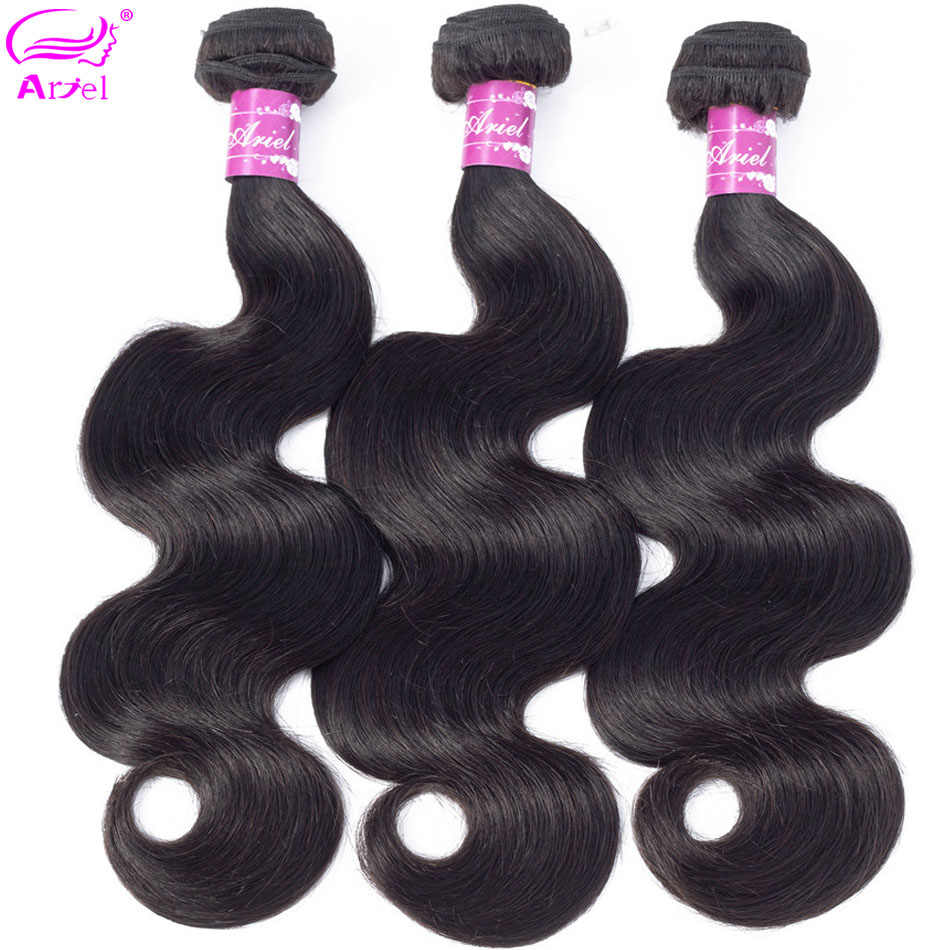 Ariel Body Wave Bundles Mongolian Hair Weave Bundles 100% Human Hair Extensions Natual Color 30 28 Inch Non Remy Hair Extension
