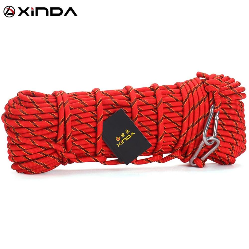 XINDA Escalada profesionalus alpinizmo lynų lauko pėsčiųjų aksesuarai 10mm skersmuo 3KN didelio stiprumo laido saugos virvė