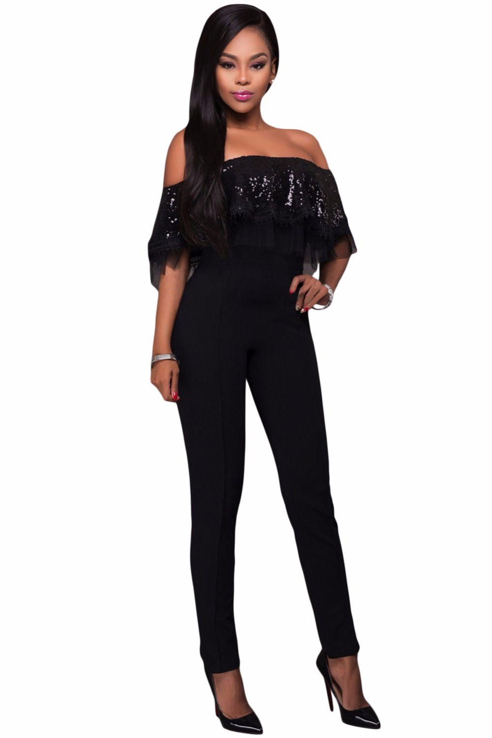 Black-Sequin-Ruffle-Top-Jumpsuit-LC64249-2-2