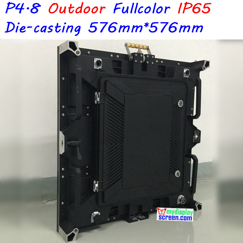 P4.8 outdoor rental display, high definition full color, 576mm*576mm, high refresh rate,high brightness,classic and stable
