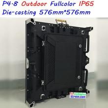 P4.8 дисплей открытый прокат, Высокой четкости полноцветный, 576 мм * 576 мм, Высокая частота обновления, Высокая яркость, Классический и стабильный