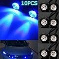 10x12 В Синий 10 Вт LED Орлиный Глаз Свет Автомобиля мотоцикл Дневного DRL Резервное Копирование Лампы Парковка Автомобилей Свет СВЕТОДИОДНЫЕ свет