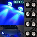 10x12 V Azul 10 W LED Eagle Eye Light Car Luz Corriente Diurna DRL de la Lámpara de luz de Estacionamiento de Copia de seguridad de la motocicleta Del Coche LED luz