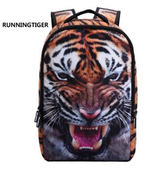Cicada tiger backpack animal 3D tiger youth trend cool print bag shoulder  bag-in Backpacks from Luggage & Bags on Aliexpress.com | Alibaba Group