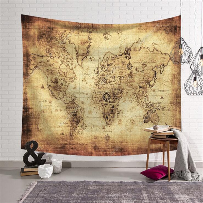 US $4.24 15% OFF|Aliexpress.com : Buy World Map Pattern Tapestry Hanging on vintage golf fabric, down on the farm fabric, vintage hawaiian upholstery fabric, world map print fabric, vintage green fabric, vintage roses fabric, vintage country fabric, vintage fabric patterns, vintage tapestry upholstery fabric, vintage space fabric, vintage looking maps, vintage train map fabric, colorado fabric, vintage travel fabric, vintage atomic fabric, vintage fashion fabric, vintage blue fabric, vintage daisy kingdom fabric, vintage floral fabric, world map on fabric,