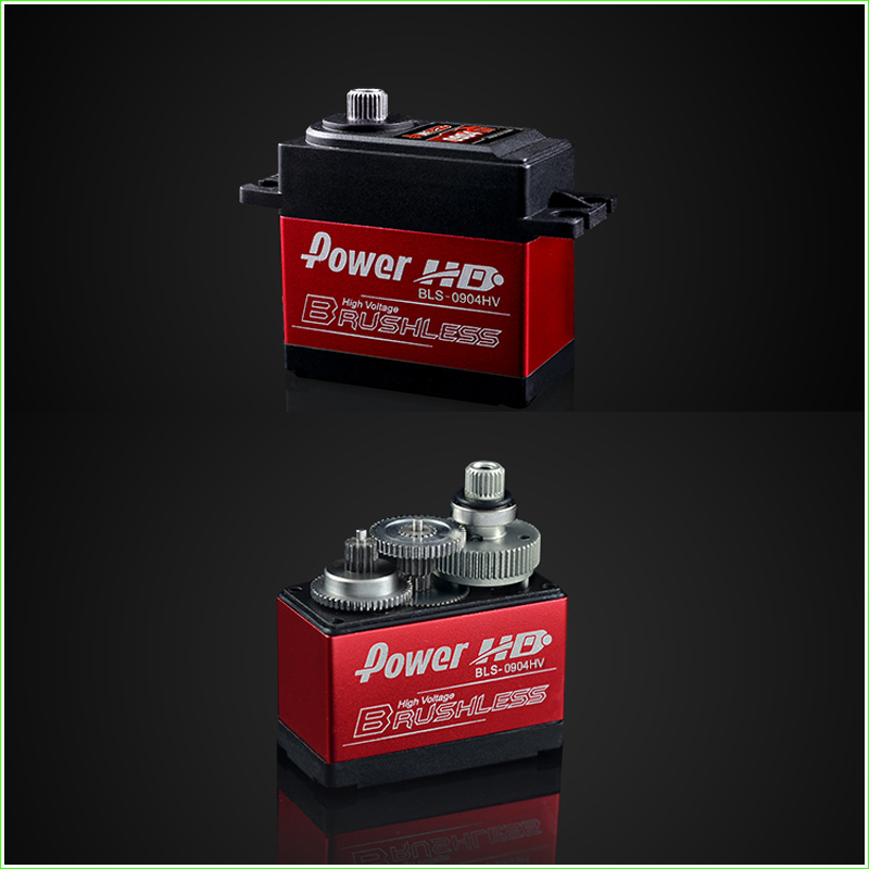 1 Pcs Power HD 9kg 7.4V Brushless Digital Servo BLS-0904HV with Metal Gears and Double Bearings