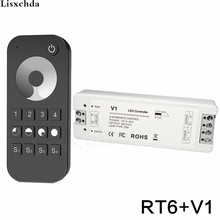 LED Dimmer 12 V 5 V 24 V 36 V 8A PWM draadloze rf 2.4G 4 zone led Touch afstandsbediening dimmer voor enkele kleur led strip licht