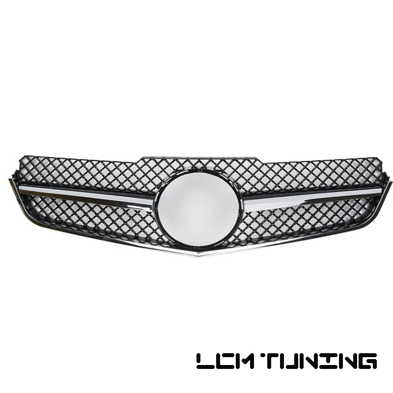 Front Bumper Racing Mesh Grille For <font><b>Mercedes</b></font> For Benz E-class <font><b>Coupe</b></font> W207 SL C207 E260 <font><b>E300</b></font> E350 2009-2013 with Emblem image