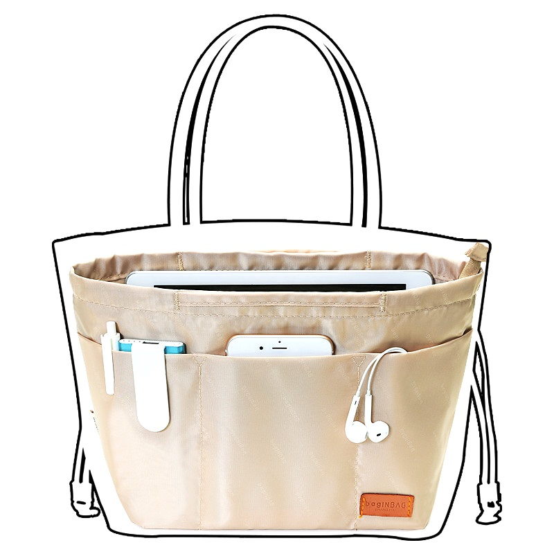 Makeup Bag Organizer Insert Women Organizer Bag Cosmetic bags Travel Organizer Pockets Handbag Maleta de Maquiagem