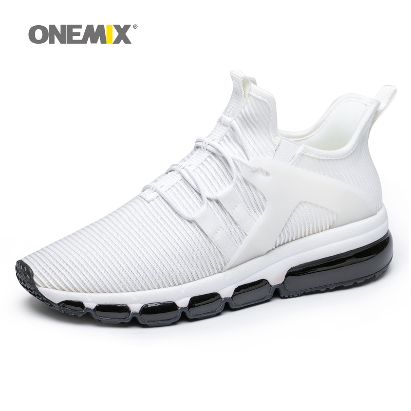 air running shoes for men white sneakers jogging trekking shoe mesh vamp Sneaker light walking sneakers